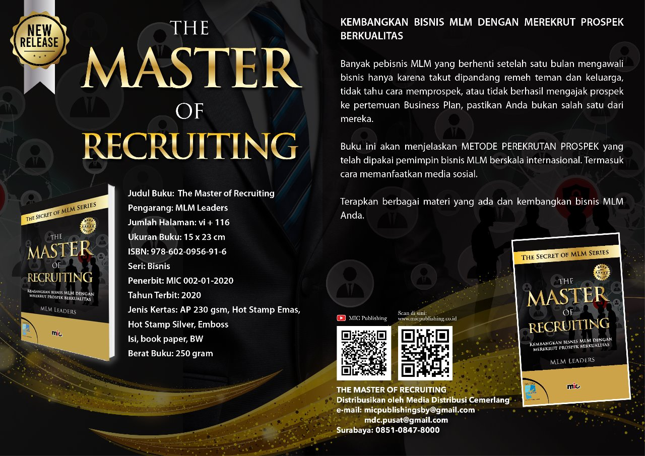 Buku The Master or Recruiting, MLM Leaders
