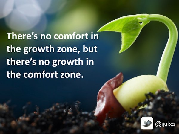 Comfort in the growth zone