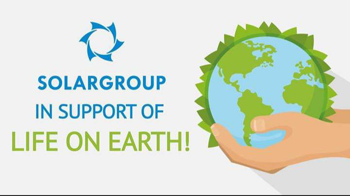 SolarGroup in support of life on earth
