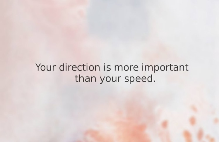 Your direction...