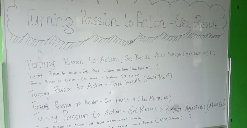 Turning Passion to Action - Get Result BAGE 04