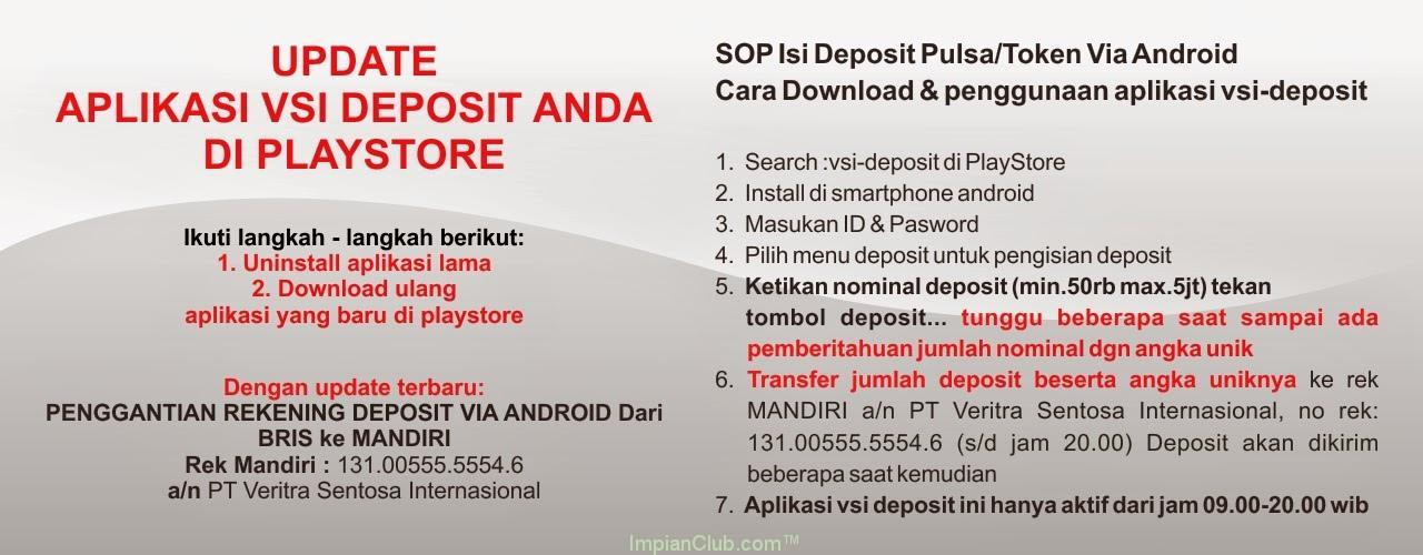 Update System Deposit via Android