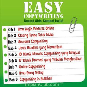 Daftar isi Buku Easy Copywriting