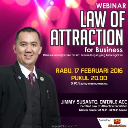 Law Of Attraction for Bussiness, Jimmy Susanto