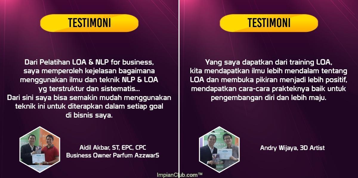 "Apa kata mereka tentang ""Law Of Attraction for Business"""