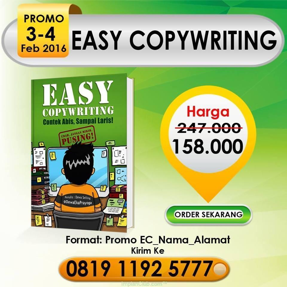 PROMO Buku Easy CopyWriting, 3 - 4 Februari 2016