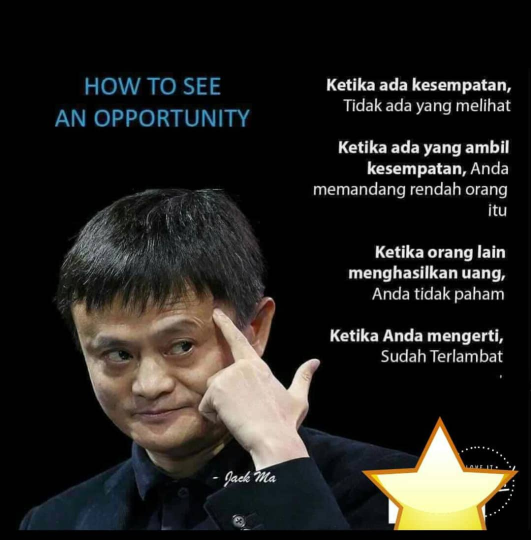 Jack Ma, How to See An Opportunity