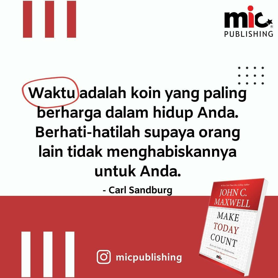 Buku Make Today Count, John C. Maxwell